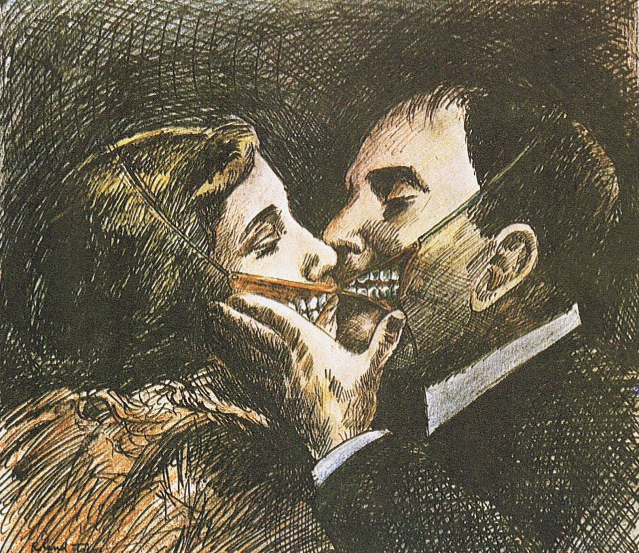 "Roland Topor cover Illustration for the Russian edition of ""The Tenant ""(French: Le Locataire chimérique) , a novel by Roland Topor, Originally published in France in 1964, and later was the base for Roman Polanski's omonymous film, released in 1976"