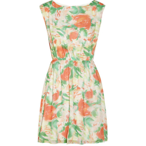 Alice + Olivia Matilda floral-print silk-georgette dress   ❤ liked on Polyvore (see more flower print dresses)
