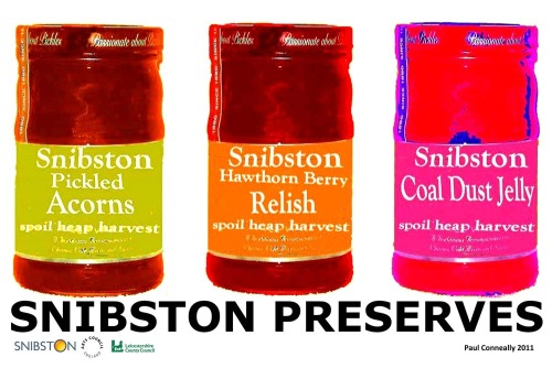 SNIBSTON PRESERVES - Paul Conneally 2011  From 'Spoil Heap Harvest' for Transform Snibston. A series of works exploring art, artefact, product, space, place, time and identity.
