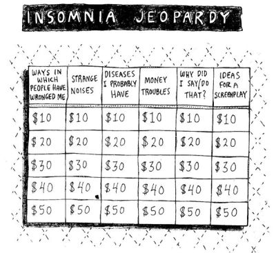 brain-food:  Insomnia Jeopardyby Roz Chast