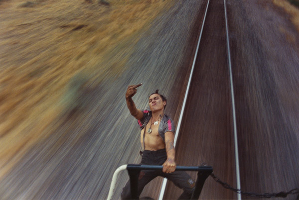 thewildandfree:  Extraordinary photos of young hitchhikers and freight train hoppers by Mike Brodie Mike Brodie (tumblr | facebook) first began photographing in 2004 when he was given a Polaroid camera. Working under the moniker, The Polaroid Kidd, Brodie spent the next four years circumambulating the U.S. amassing an archive of photographs that would go on to make up one of the few, true collections of American travel photography. Having never undergone any formal training, he chose to remained untethered to the pressures and expectations of the art market.