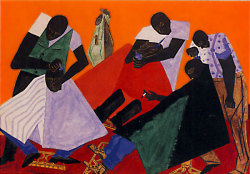 artismyhustle:  Barbershop JacobLawrence