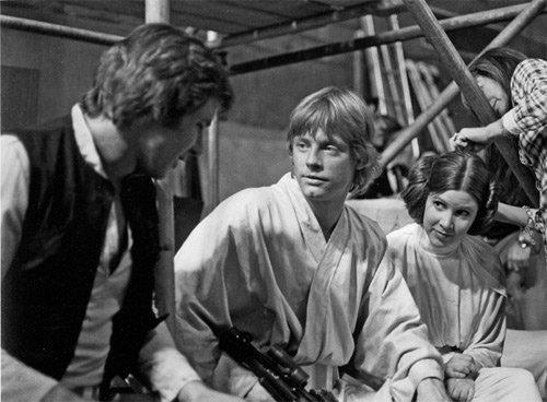 Han, Luke, and Leia