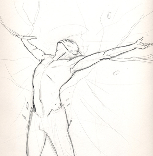 Figure studies for a very large (and intimidating) self directed project.