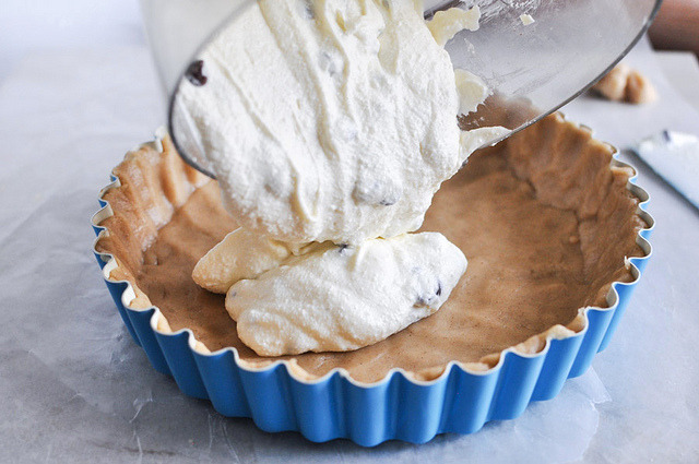 timefliestoday:  Tasty Kitchen Blog Cannoli Tart 11 by Ree Drummond / The Pioneer Woman on Flickr.  Honestly why put it in a tart shell and bake it? I would do terrible, terrible things to that bowl.