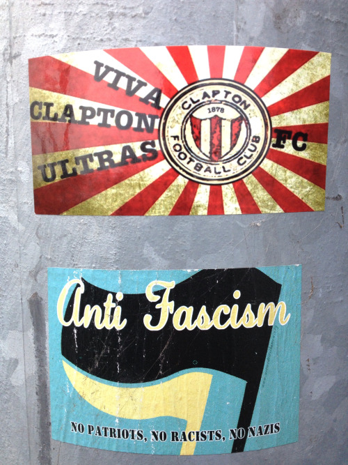 claptonultras:  More sticker joy, Walthamstow.