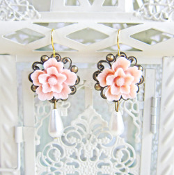 Pink Bridesmaids Earrings - JEWELSALEM