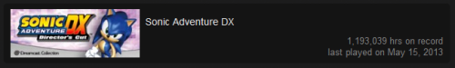 Apparently I've been playing Sonic Adventure for the past 136 years.