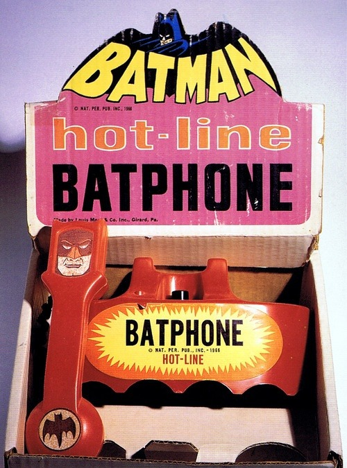 cryptofwrestling:  Batman Hotline Batphone (1966)