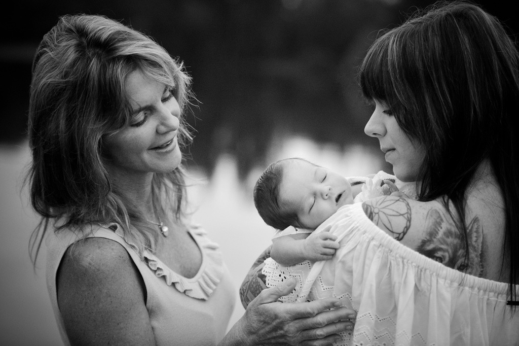 My mother and I with my little baby girl, EIsley. You can see more from this photo shoot below :)  (Photo credit: Steve Lawson)