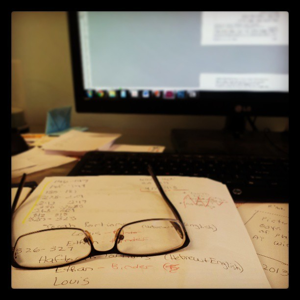 Trying to rest my eyes…so much work! #oldglasses #work #layout #graphicdesigner #printshop #indesign