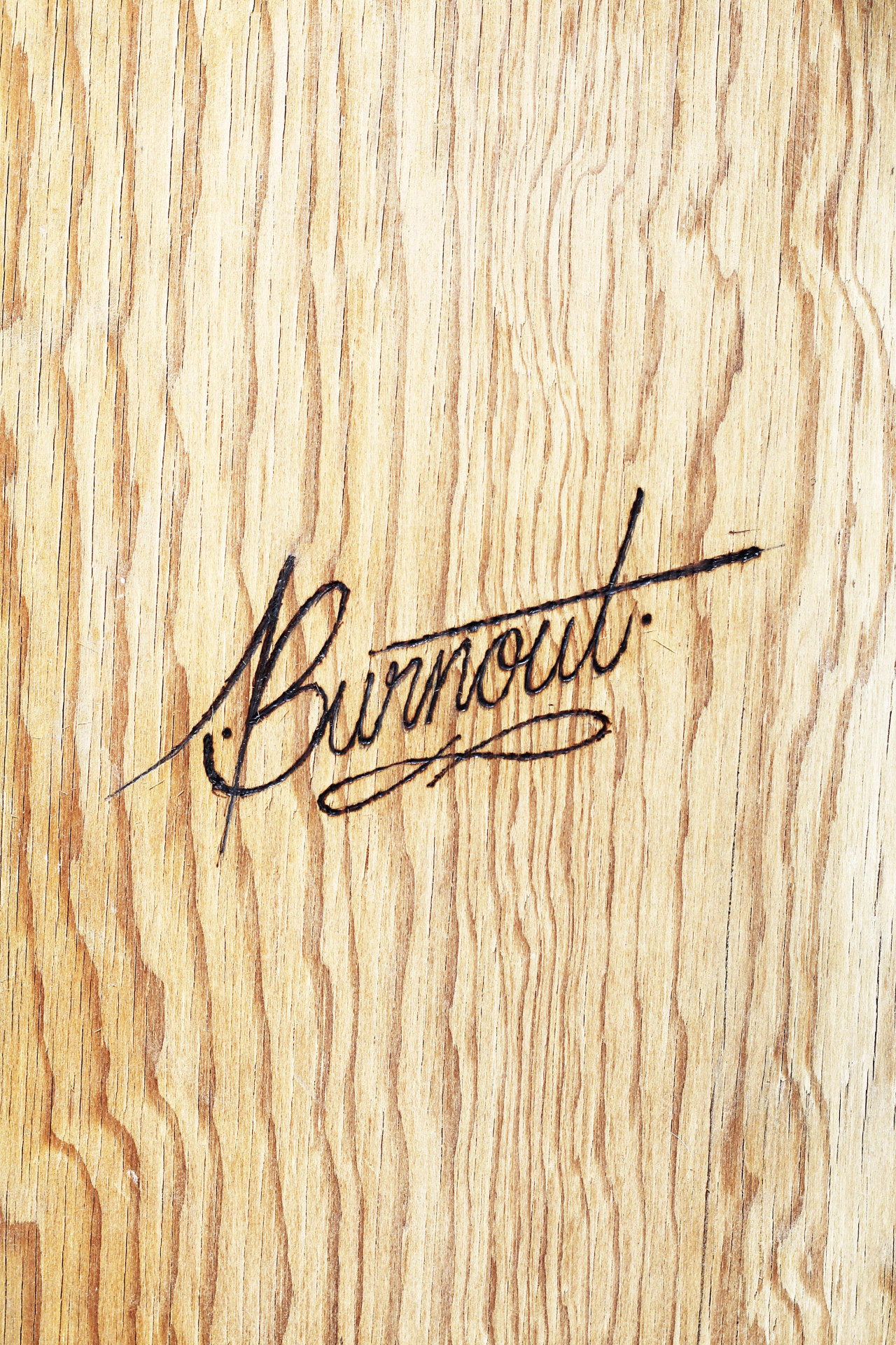 "its-a-living:  ""Burnout"" Sometimes we all burnout burned wood by: It's a living © Instagram: @itsaliving"