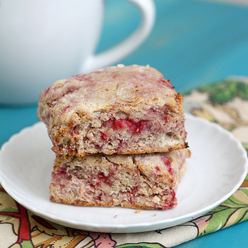 whole wheat raspberry ricotta scones click here for recipe