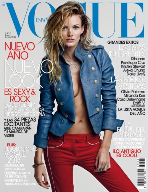Edita Vilkeviciute by Patrick Demarchelier for Vogue España, January 2013