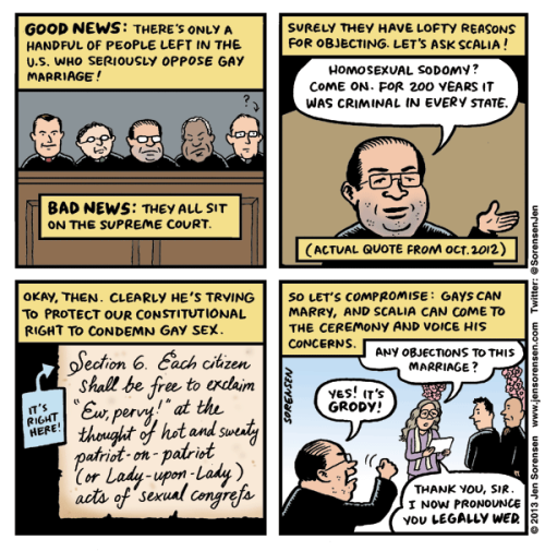 Scalia's Gay Marriage Problem by @SorensenJen