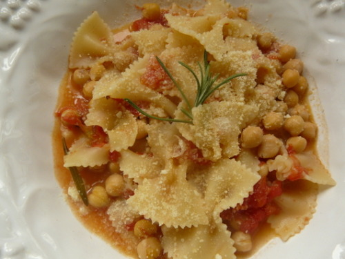 Recipe: Pasta e Ceci     Rustic Italian dishes like this one have very few ingredients but tons of flavor.