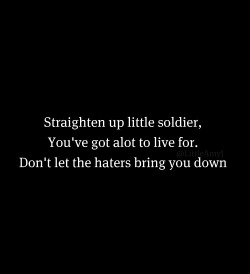 Twitter / @LittleAmyJ: straighten up little soldi … on We Heart It - http://weheartit.com/entry/22651727/via/caroline101