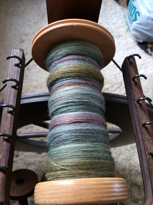 Here is some bobbin porn for you lot.  Next stop, plying!
