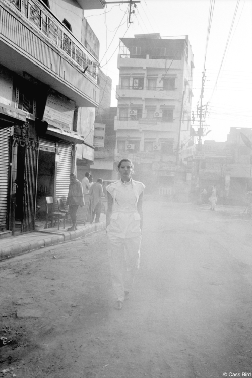 Daria Werbowy in India for Maiyet.