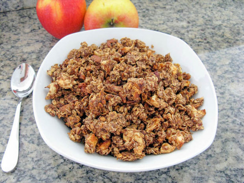 healthy-fit-food:  apple cinnamon granola (vegan)