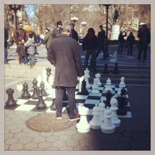 Big people chess #nyc #unionsq