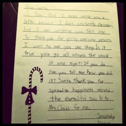 most awesometastic holiday letter ever! #FTW