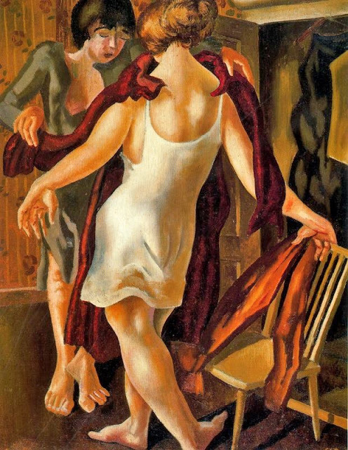 Choosing a Dress by Stanley Spencer