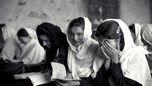 afghanistaninphotos:             Girls at school in Afghanistan. October 2002.Copyright: Thomas Morleyhttp://www.flickr.com/people/82903044@N07/