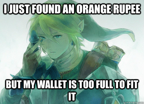 gamingfunniest:  First world problems… hyrule edition  Follow this blog for more great gaming posts