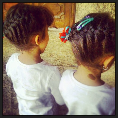 💓💓#twins #hairstyle #Alia #Nora #love