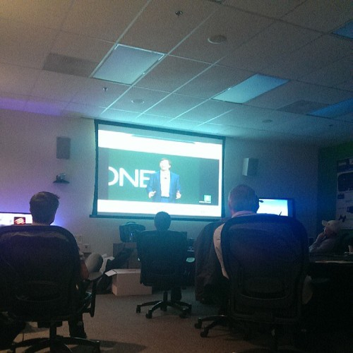Watching #XBOXREVEAL in the main boardroom #KindaExcited (at Madcatz)