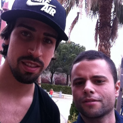 dawnkok:  luisbuenolive l 18.00 pm | 4/4/2013  #me #khedira #realmadrid #Sami's birthday##At Carlos Sainz center, a karting place#