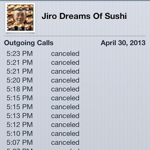 JIRO!!! Pick up the phone!!! Need to make a reservation for mid June!! #sushi #jirodreamsofsushi #japan #tokyo CC: @imaginedragons