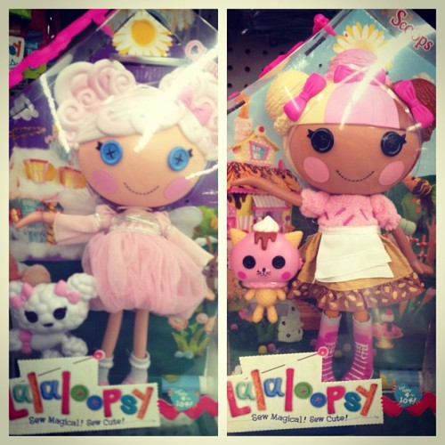 You realize how hard life really is when you cannot decide which #LaLaLoopsy you want more. #Toughchoices #cute #doll #toys #pinkhair