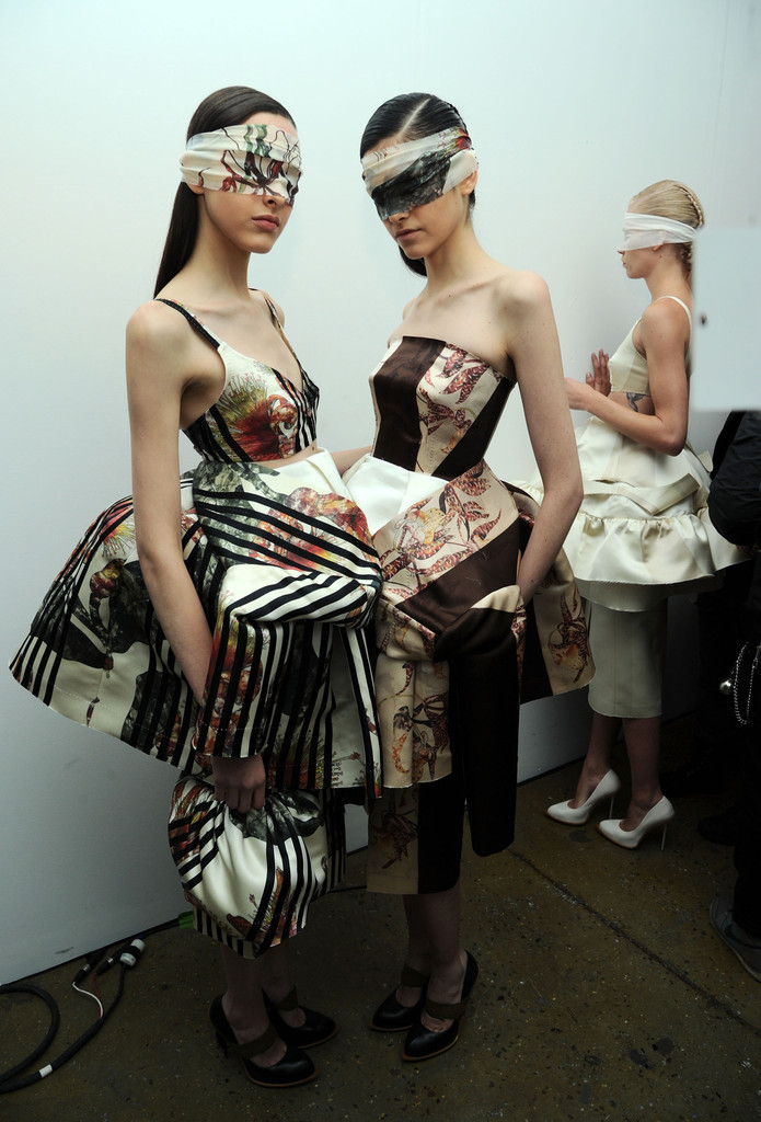 Backstage Alexandre Herchcovitch, fall 2013
