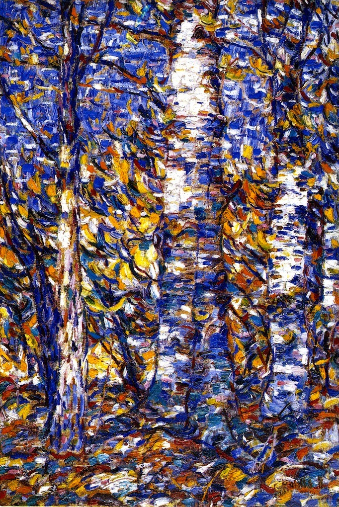 parkstepp:  Christian Rohlfs, Birch Forest, 1907    german-expressionists: