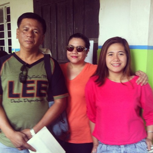 Halalan 2013 :) with my Dad and sister :) #halalan2013 #philippines  (at Ricardo Pronove Elementary School)