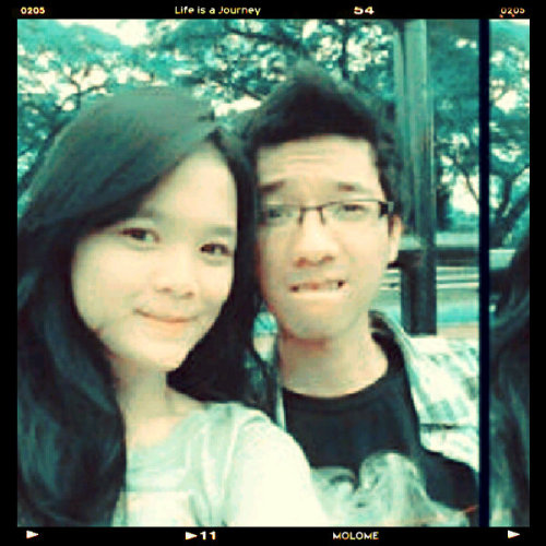 #couple #clossy #face  (Photo taken and uploaded via MOLOME )