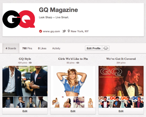gq:  We pin. You follow?  Genius.