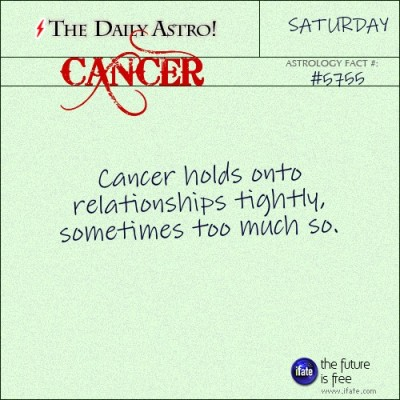 Cancer 5755: Check out The Daily Astro for facts about Cancer.and u can get a free tarot reading here. :)