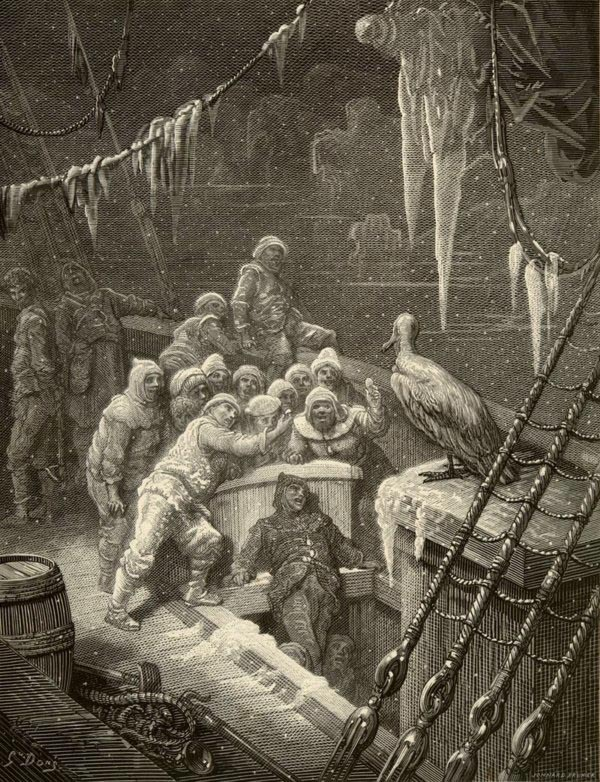 Engraving by Gustave Doré for an 1876 edition of the Rime of the Ancient Mariner by Samuel Coleridge