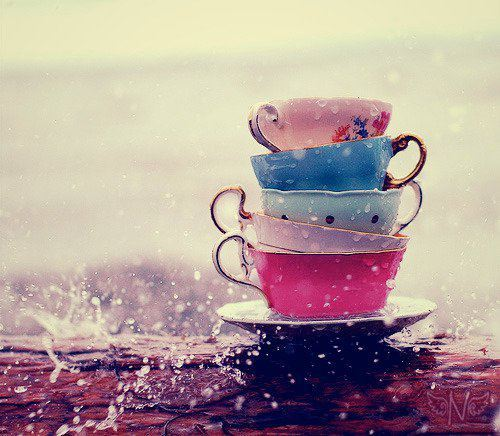 Adorable teacup of the day! Waa someone take these pretty cups inside asap!