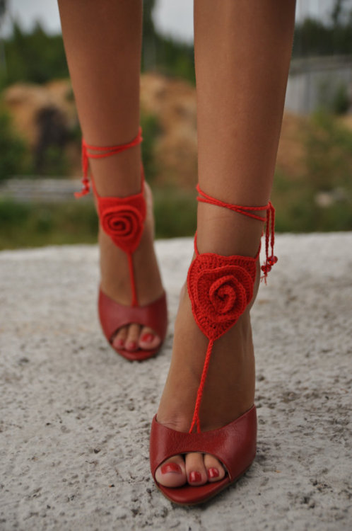 crochet + shoes via etsy