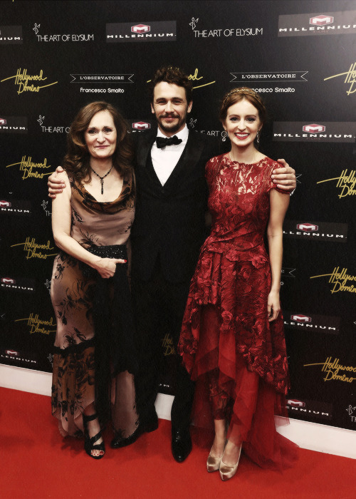 Beth Grant, James Franco and Ahna O'Reilly attend the Art Of Elysium PARADIS during the 66th Annual Cannes Film Festival at L' Oservatoire on May 20, 2013.