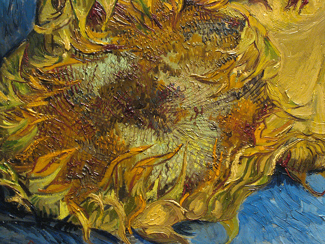 Van Gogh, Sunflowers (detail), 1887