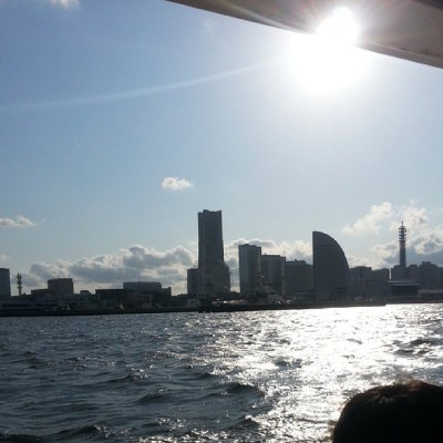 #Yokohama  #skyline from the bay ferry. #nofilter