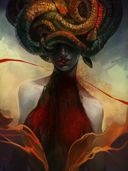 Medusa by *Alicechan —-x—- More: | Creature Week #1 | Gorgons | Random |