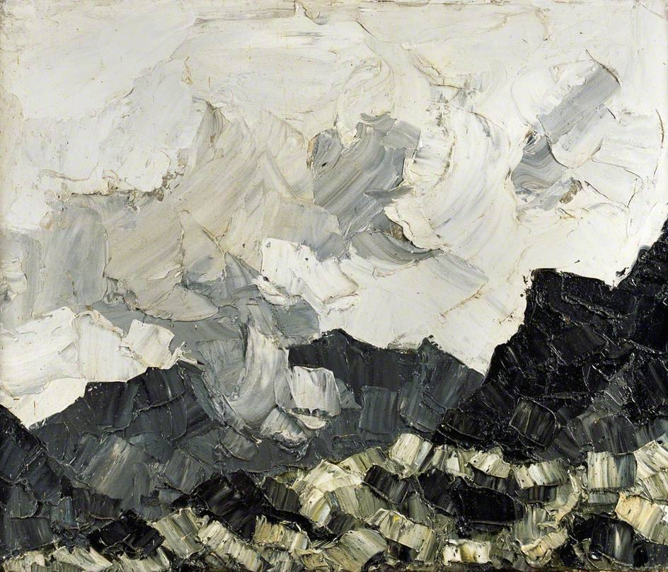 yama-bato:  Cloud on the Mountains Kyffin Williams