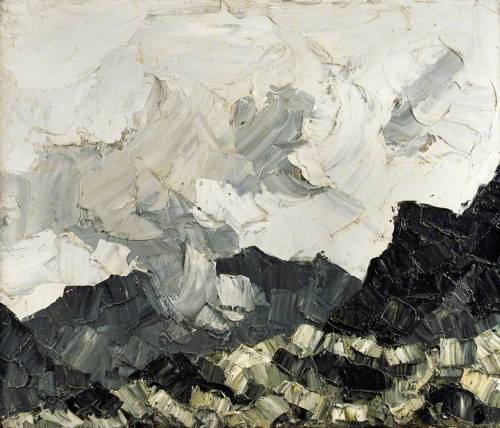 yama-bato:  Cloud on the Mountains Kyffin Williams   [+]