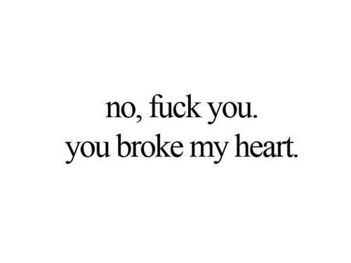 mainstream-diesdas:  Fuck you # boy # stupid # cry # heart # broken # never again # bye